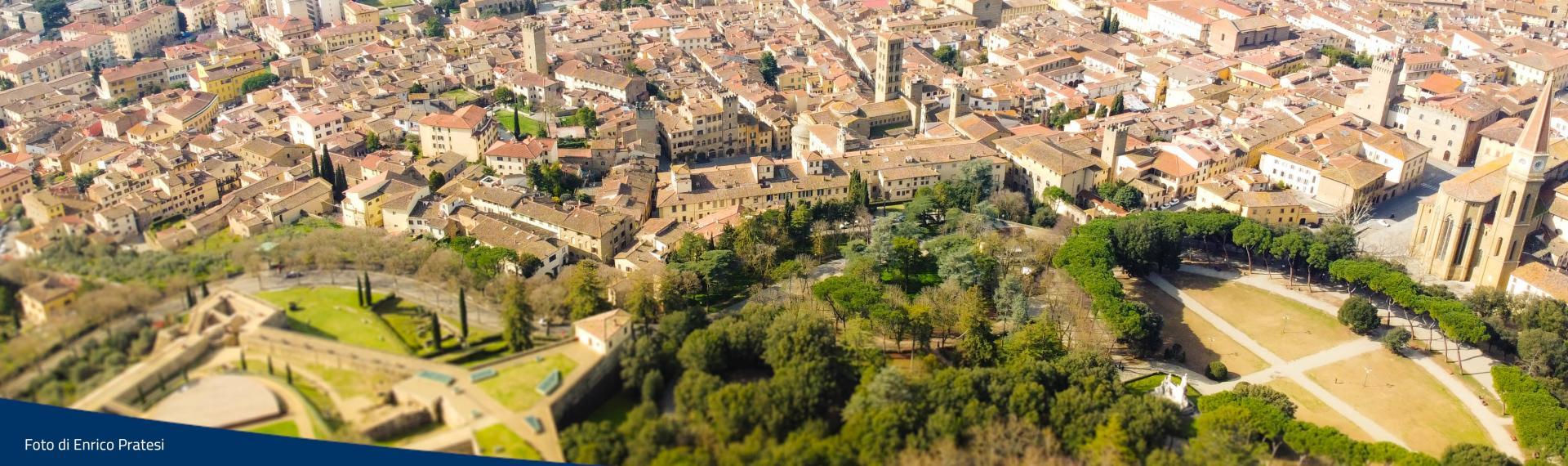 Vista aerea centro storico di Arezzo